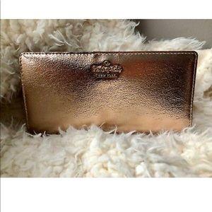 Kate Spade Soft Leather Rose Gold Wallet